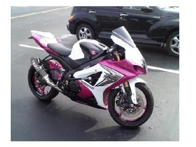 2008 PINK SUZUKI GSXR 1000: The custom painted 2008 PINK SUZUKI GSXR 1000 for sale is a 2008 Suzuki GXSR 1000 that is as sharp as a biker chick's motorcycle can get in fuschia pink,