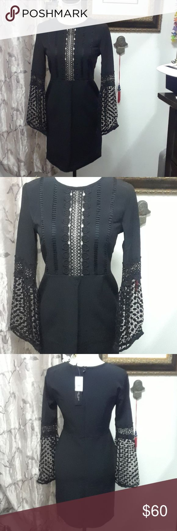 BRAND NEW ROMEO AND JULIET DRESS Beautiful dress black with lace good for any occasion. Romeo & Juliet Couture Dresses