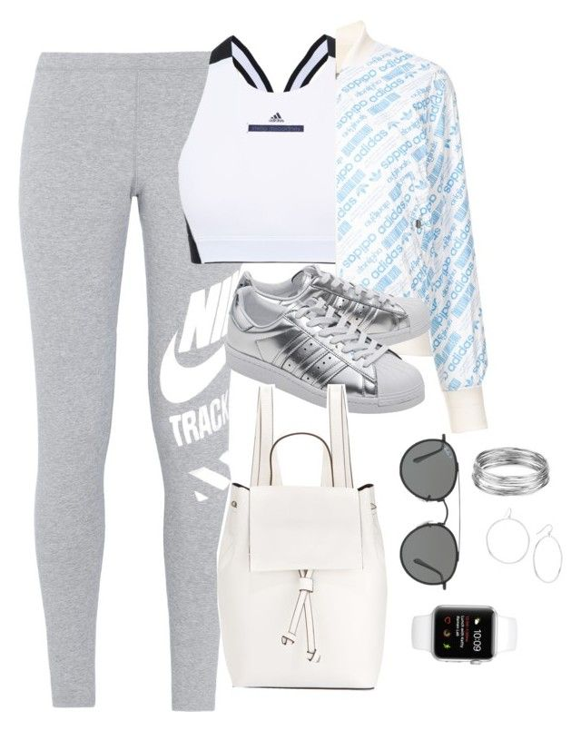 """""""Read Below"""" by theaverageauburn ❤ liked on Polyvore featuring NIKE, adidas, adidas Originals, French Connection, Ray-Ban, Gorjana and Aqua"""