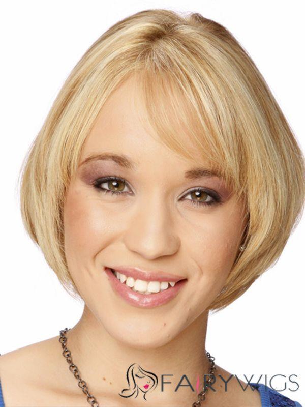 Soft Short Straight Capless Real Human Hair Wigs