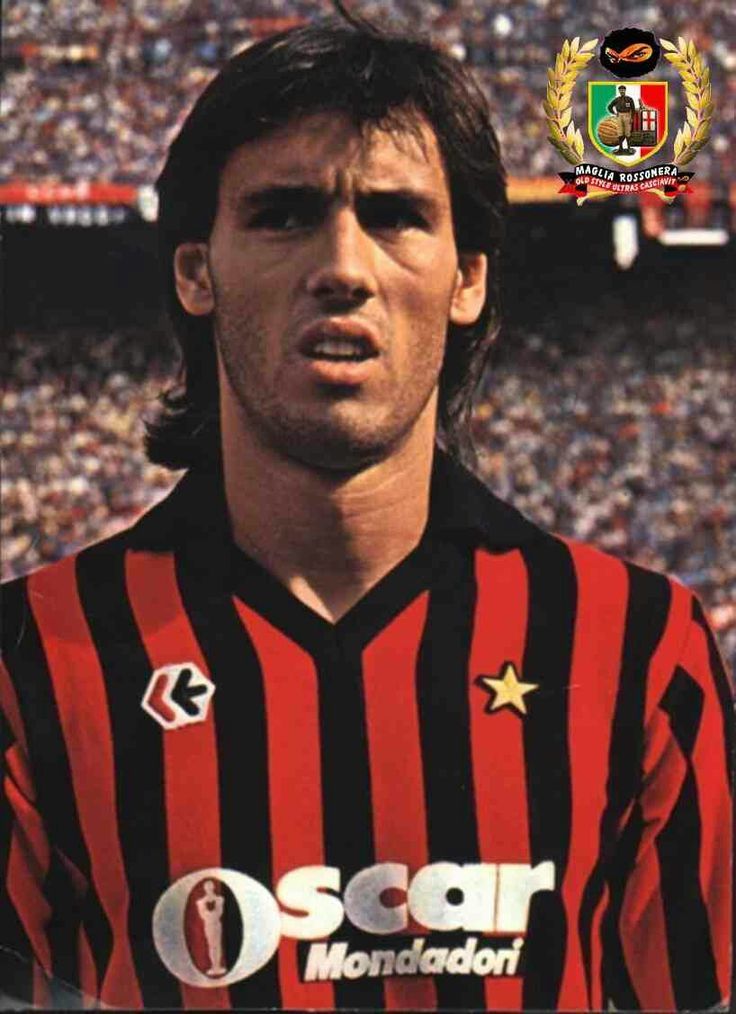Tony Hateley of AC Milan & England in 1986.