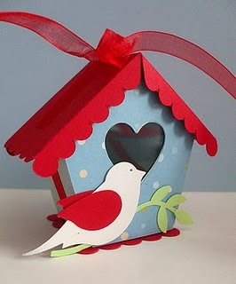Birdhouse box.  I offer free SVG, SCAL, MTC templates for all my boxes and items on my blog www.stampingdanitemplates.blogspot.it