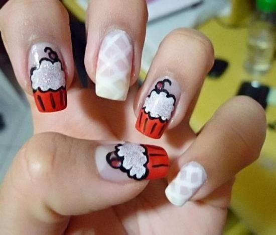141 best cupcakes images on pinterest candy nail polish cupcake nails nail art tricksfancy prinsesfo Image collections