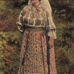 Romanian traditional costume from 1906