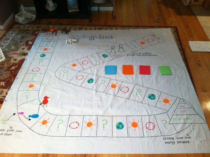 Make learning fun! Create life size game boards as lessons