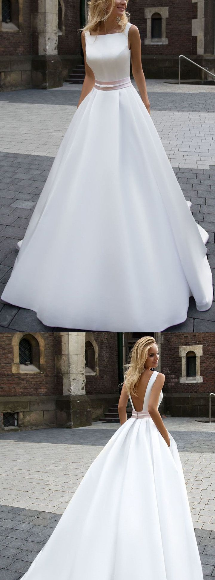 Wedding dress short in front with long train   best Wedding Dresses images on Pinterest
