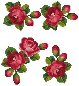 Advanced Embroidery Designs - Rose Linen Set