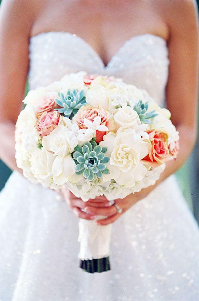 adorable succulent bouquet: Ideas, Wedding Bouquets, Weddings, Colors, Beautiful, White Bouquets, Flowers, Bride, Succulent Bouquets