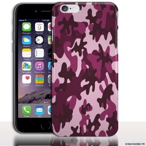 Housse Silicone iPhone 6s Camouflage Rose - Protection Souple design Customisé. #iPhone6s #camo