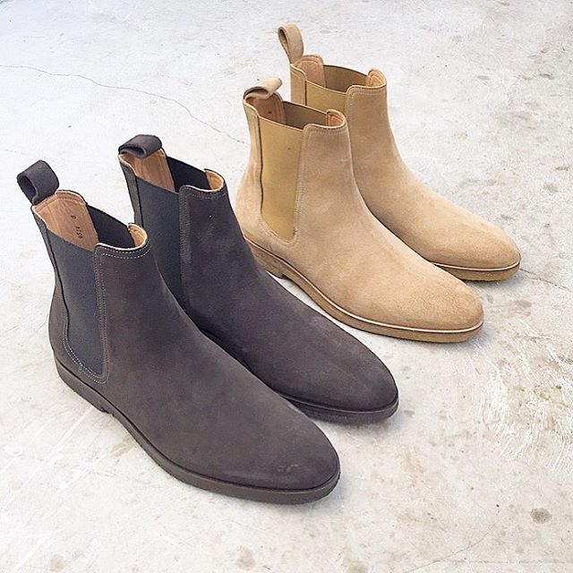 Mens Fashion Light Suede Boots