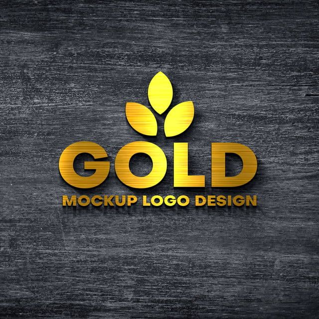 Download Gold 3d Logo Mockup Free Yellow Images