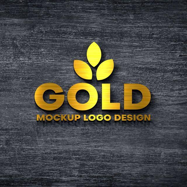 Mockup Logo Gold 3d In 2020