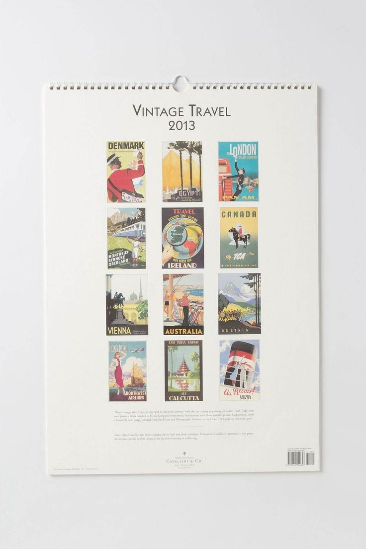 Vintage Voyage Wall Calendar - Anthropologie.com $21.95:  Internet Site,  Website, Web Site, 2013 Calendar, Anthropologiecom 2195, Vintage Voyage, Wall Calendars, Voyage Wall, Vintage Travel