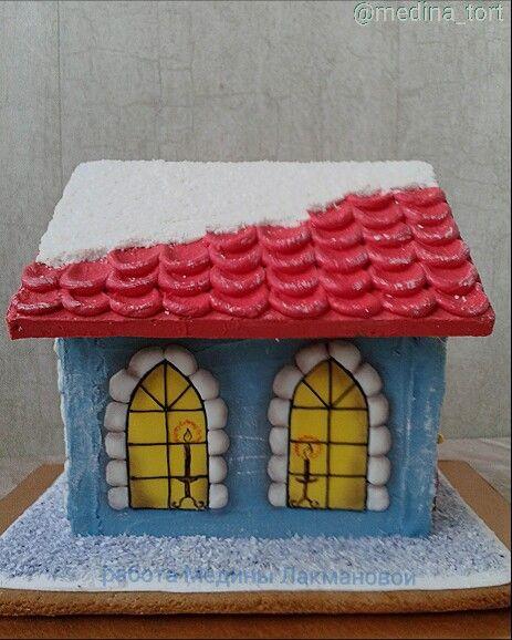 Рождественский пряничный домик; в инстаграмме  @medina_tort