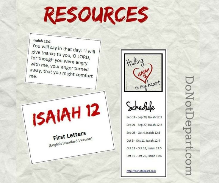 Printable resources to memorize Isaiah 12