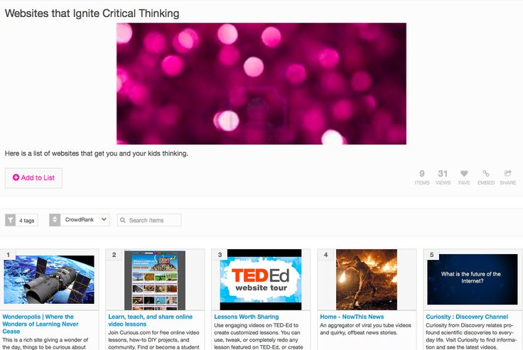 critical thinking websites The all critical thinking app targets problem solving, reasoning, and critical  thinking and can be used in language or cognitive therapy sessions with children .