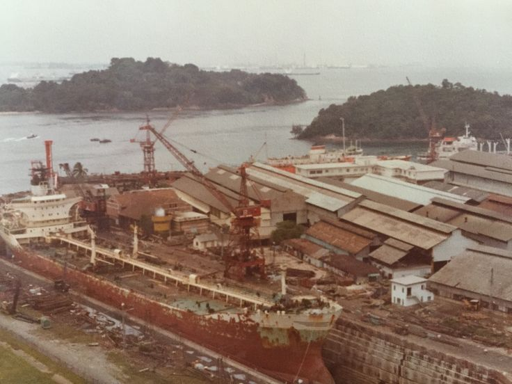 Port of Singapore from Mount Faber 1978