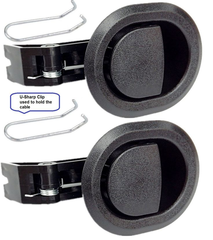 2x Recliner Replacement Parts @ Small Oval Black Plastic Pull Recliner Handle, Flapper Style, Packaged with our own designed bag @ Eric & Leon Logo (2)
