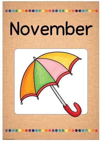 """Monatsplakate """"November""""  Die nächsten Monatsplakate  sind fertig. Dieses Mal habe ich alle drei Varianten in eine Datei gepackt. Auch die ..."""