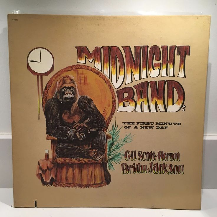 GIL SCOTT-HERON BRIAN JACKSON Midnight Band LP 1975 Arista ORIG US PRESS #JazzFunkFusionSoulJazz