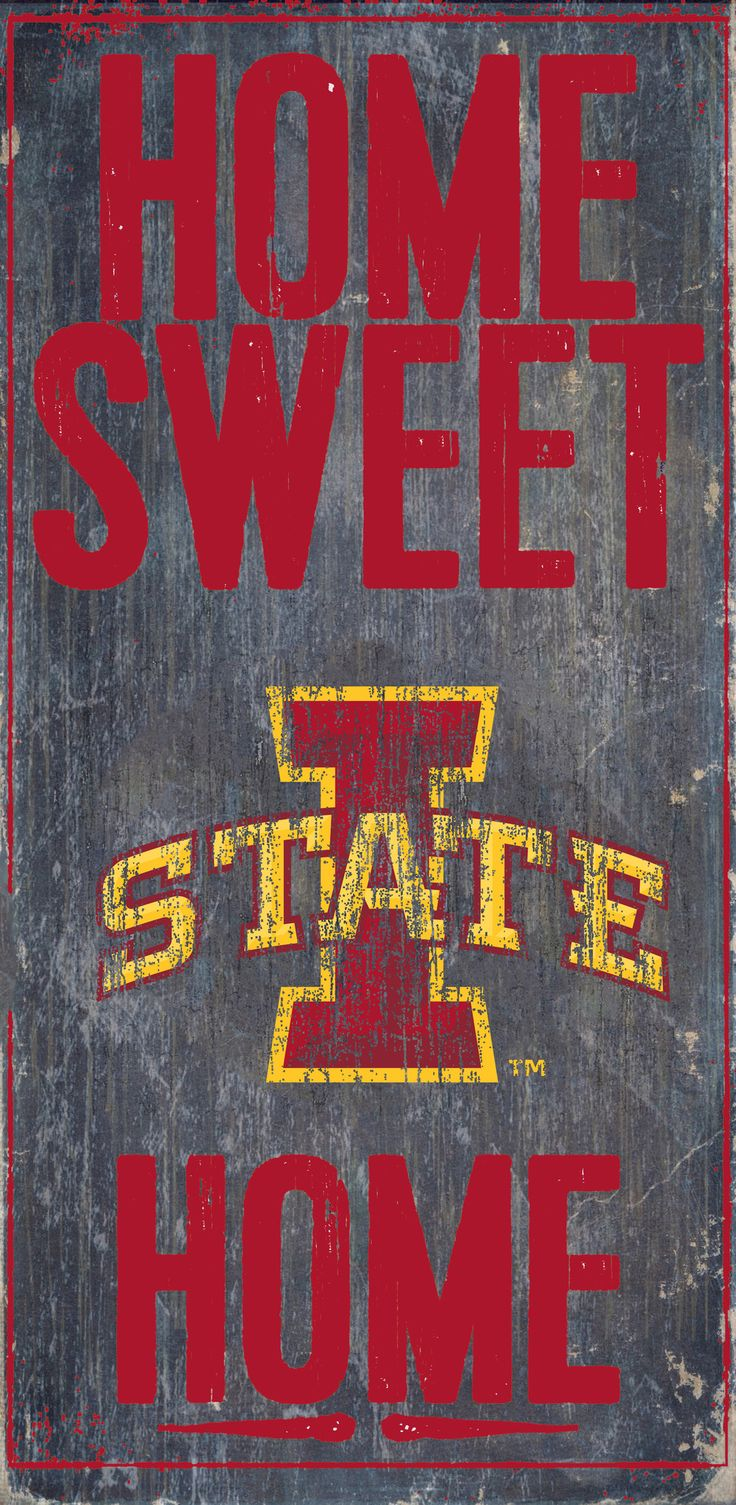 Iowa State Cyclones Wood Sign - Home Sweet Home 6x12 (backorder)
