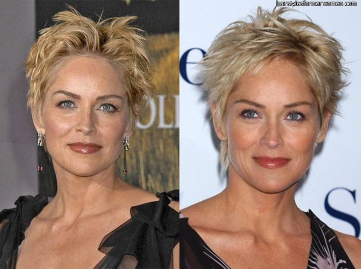Sharon Stone Hairstyles Short Hair