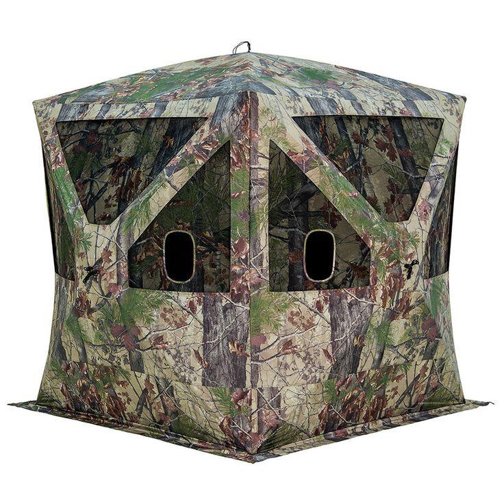 Hunting Blind Ground Hub Camo Shelter Portable Tent Deer Turkey Hunters Cover #huntingblind #groundhub #deer #turkey