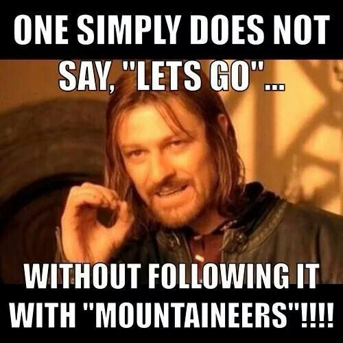 """LET'S GOOOO!.....Mountaineer<<<<now I would like to point out in this scene he is saying """"the eye is ever watching"""" not """"One does not simply..."""""""