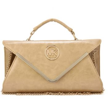 MK5361 Michael Kors Leather Chain Large Apricot Shoulder Bag http://michaelkors-us.blogspot.com/ Michaelkor is