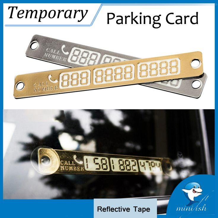 Tarjeta de Número De Teléfono La Noche Luminosa Auto Car Styling Accesorios de Tarjeta de Estacionamiento Temporal Pegatinas