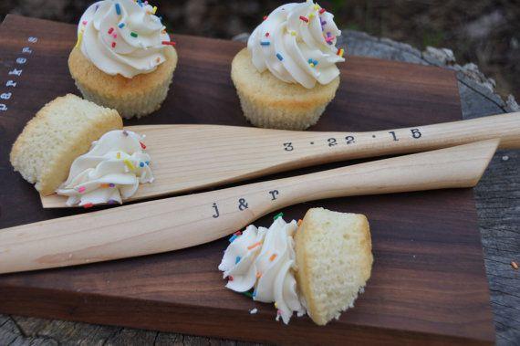 Wedding cake server set wedding cake knife by laceandtwig on Etsy