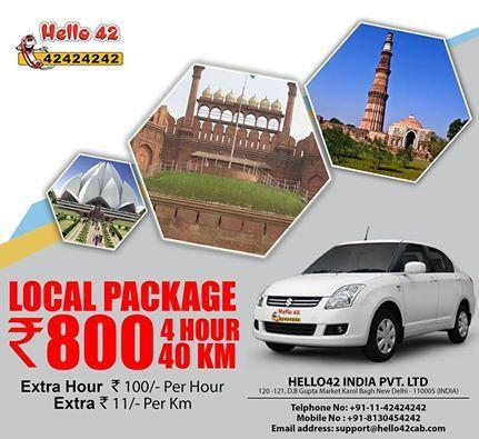 Hello42 cab service in Delhi.