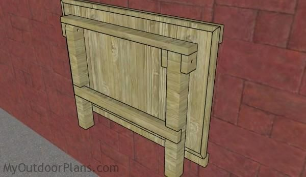 Wall Mounted Folding Workbench Plans Outdoor Plans