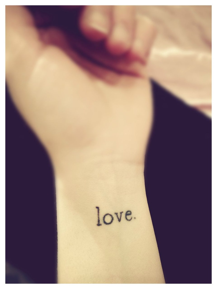 My typewriter font LOVE. wrist tattoo | D E S I G N ...