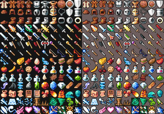 16x16 RPG Icons Pack 1 Free Sample by 7Soul1