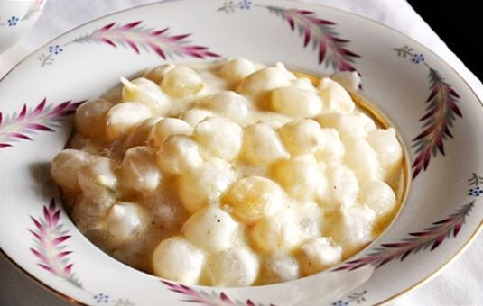 Holiday Creamed Onions Recipe ~ a classic Thanksgiving side dish!