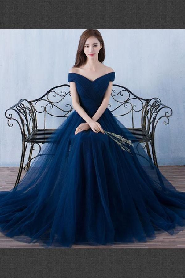 240c2988860c Beautiful Navy Blue, Blue, Long, A-Line in 2019 | Prom Dresses 2019 ...