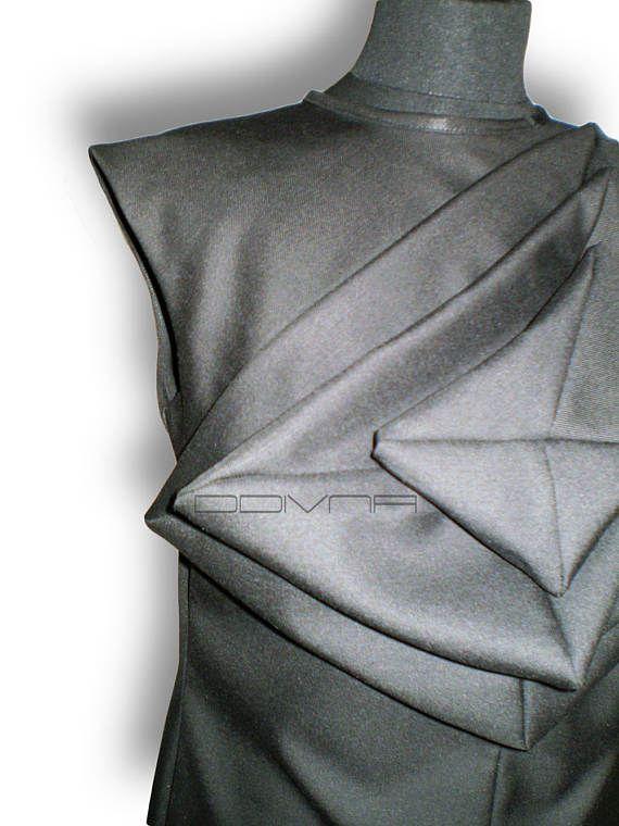 Origami dress Unusual shift dress Art to wear dress Unusual