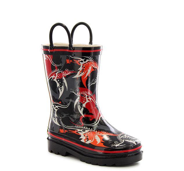Kids' Dragons Lair Rain Boots - Black