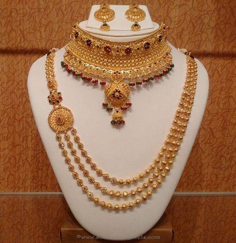 Light Weight Bridal Jewellery Designs, Light Weight Indian Bridal Jewellery Designs