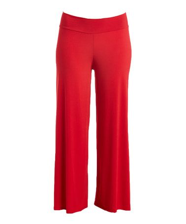 Love this Red Palazzo Pants - Plus on #zulily! #zulilyfinds