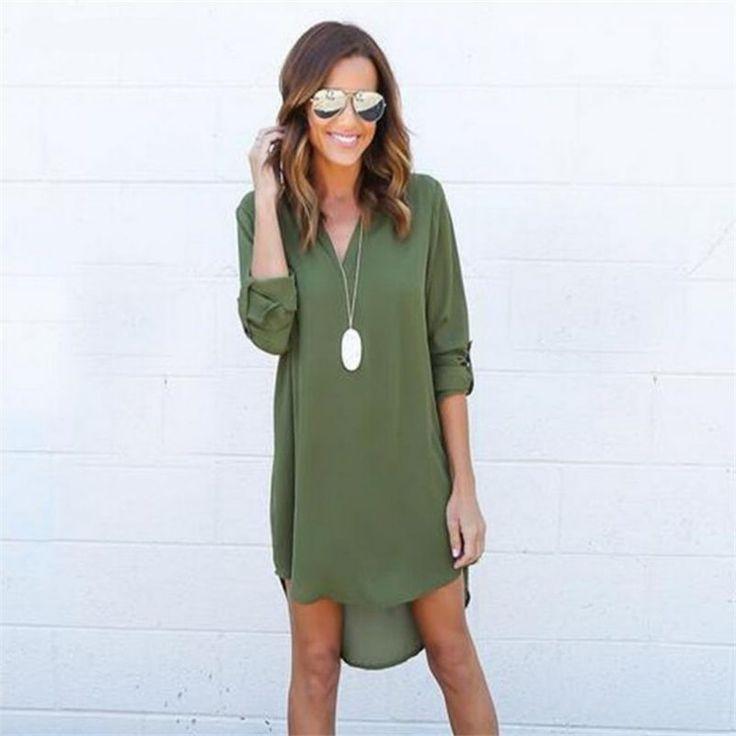 New Fashion Loose Long Sleeve Dress