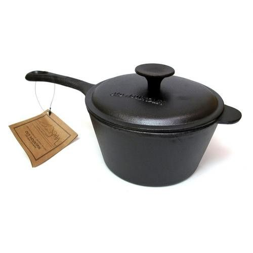 Old Mountain Cast Iron 2 qt Sauce Pan w Lid