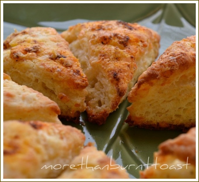 Cheddar, Parmesan, and Cracked Pepper Scones**