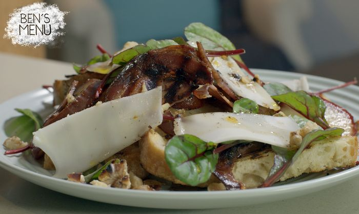 Ben's recipe for his Pear & Pancetta Salad