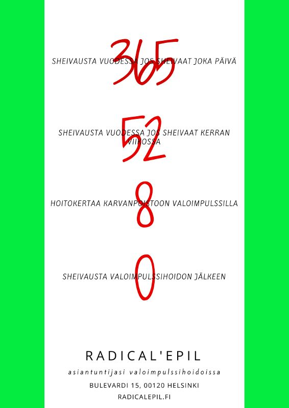 Sheivaus ei ole kohtalo. Anna meidän auttaa. www.radicalepil.fi