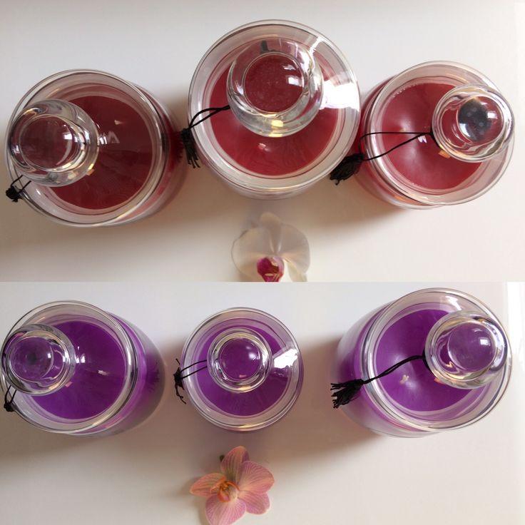 Nowe zapachy świec Elegance: Konfitura Malinowa i Majowy Spacer www.pompomcandles.pl
