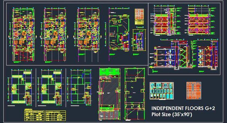 Best Residential Independent Floor Architectural Details 35 400 x 300