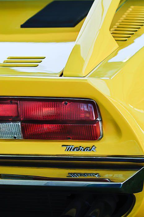 1974 Maserati Merak Taillight Emblem - Car Photographs by Jill Reger