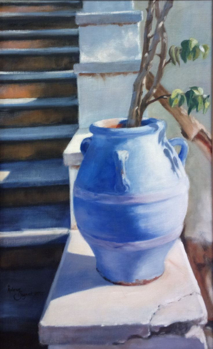 Blue Urn,    oil on  linen